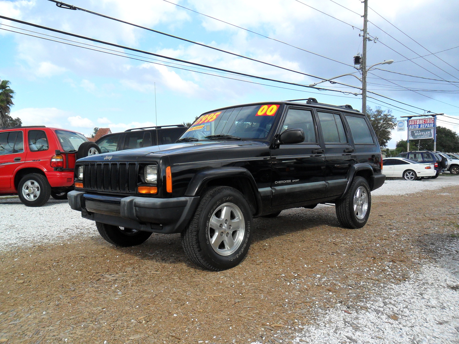 picture of 2000 jeep cherokee 4 dr sport exterior. Cars Review. Best American Auto & Cars Review