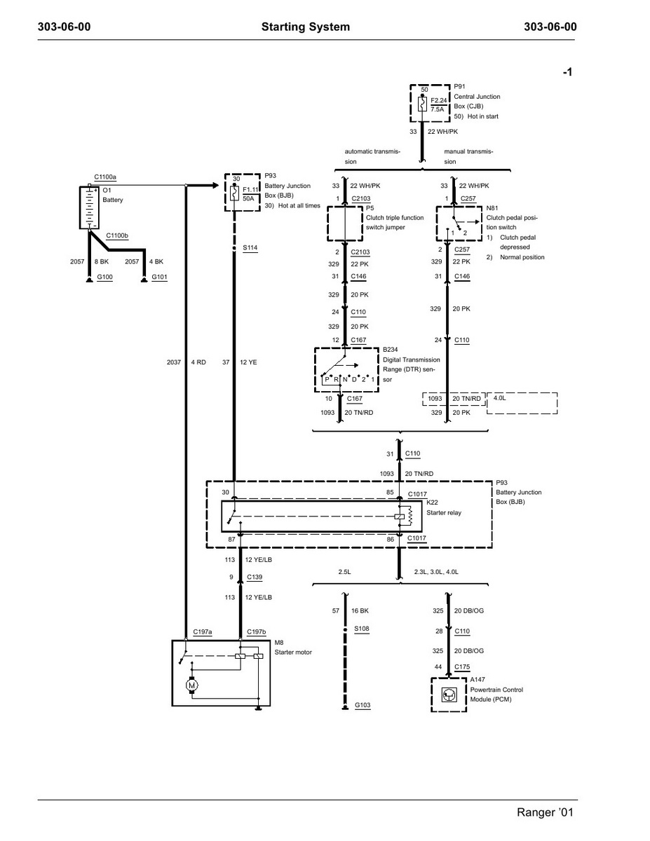 97 f150 starter relay location diagram