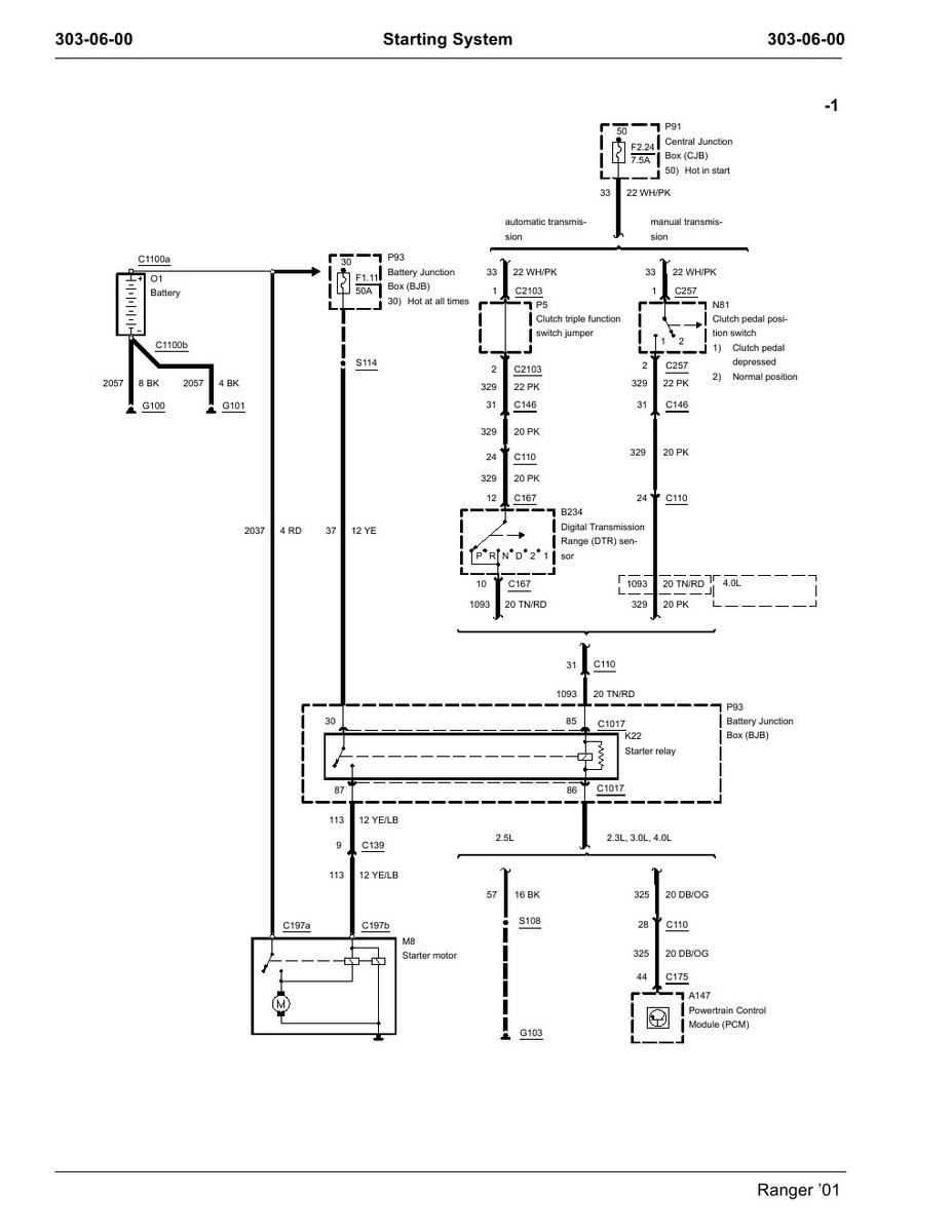 ford explorer starter wiring wiring diagram