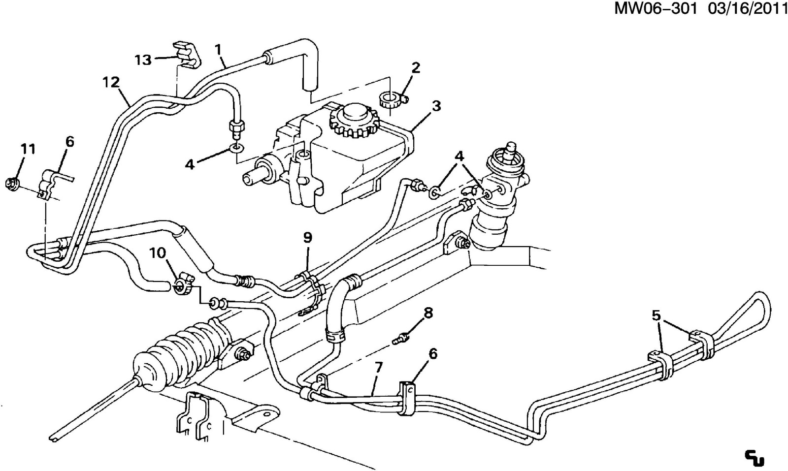 Pontiac Grand Prix Questions 1993 Power Steering Pump