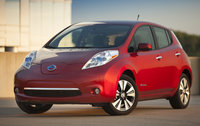 2014 Nissan LEAF, Front-quarter view, exterior, manufacturer, gallery_worthy