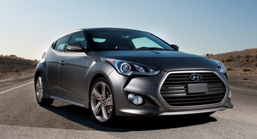 2014 Hyundai Veloster Turbo, Front-quarter view, exterior, manufacturer