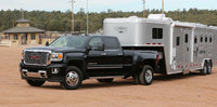 2015 GMC Sierra 3500HD, Front-quarter view. Copyright General Motors, exterior, manufacturer