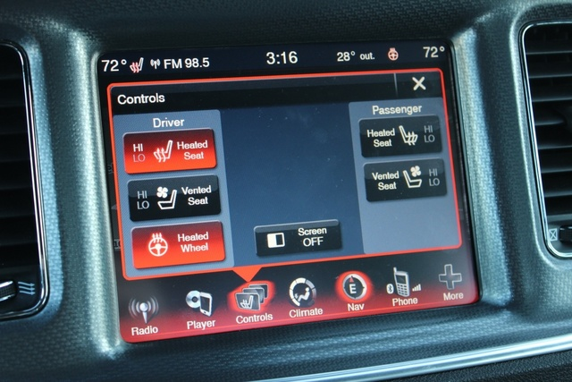 Touch screen of the 2014 Dodge Charger, interior, gallery_worthy