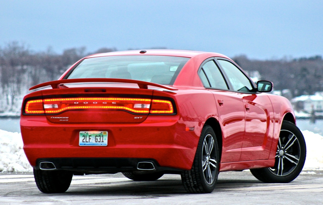 Rear 3/4 of the 2014 Dodge Charger