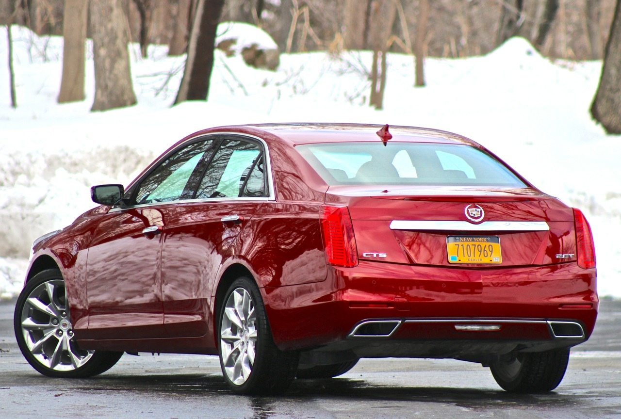 Rear 3/4 of the 2014 Cadillac CTS
