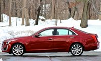 Side shot of the 2014 Cadillac CTS, exterior