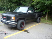 1991 GMC Sierra 1500 K1500 4WD Standard Cab Stepside SB, After a 5 day 60+ hour week, two tone flat black and factory galaxy grey., exterior, gallery_worthy