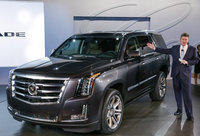 2015 Cadillac Escalade, Front-quarter view. Copyright General Motors, manufacturer, exterior