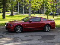 2014 Ford Mustang V6 Premium, 2014- Ruby Red - Gleaming, exterior, gallery_worthy