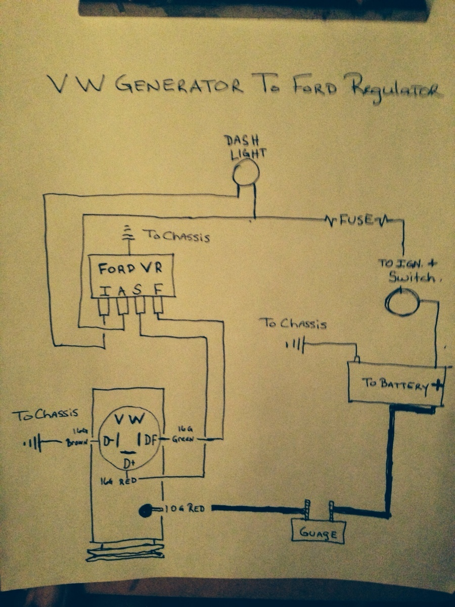 Vw Beetle Generator Wiring Diagram Not Lossing Engine Voltage Regulator 1974 Volkswagen Questions Try This Again I Have A Rh Cargurus Com Alternator