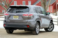 Rear 3/4 of the 2014 Toyota Highlander