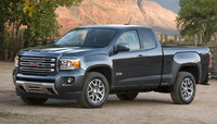 2015 GMC Canyon, Front-quarter view. Copyright General Motors, exterior, manufacturer
