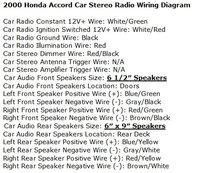 honda accord questions what is the wire color code for a honda radio wiring color code wiring diagrams for the radio