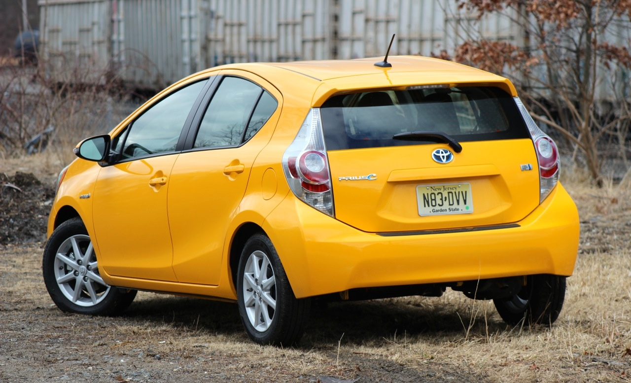 Rear 3/4 of the 2014 Toyota Prius C