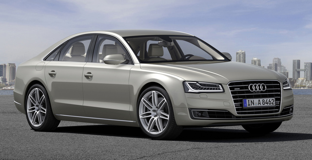 2015 Audi A8, Front-quarter view, exterior, manufacturer, gallery_worthy