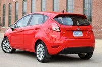 Rear 3/4 of the 2014 Ford Fiesta, cost_effectiveness, exterior
