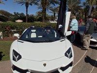 Lamborghini Aventador Roadster white, front end