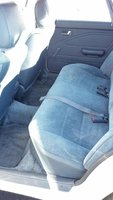 1989 Mazda 626 DX, Rear seat, interior