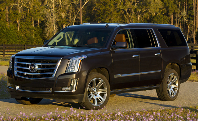 2015 Cadillac Escalade ESV, Front-quarter view. Copyright General Motors, exterior, manufacturer, gallery_worthy