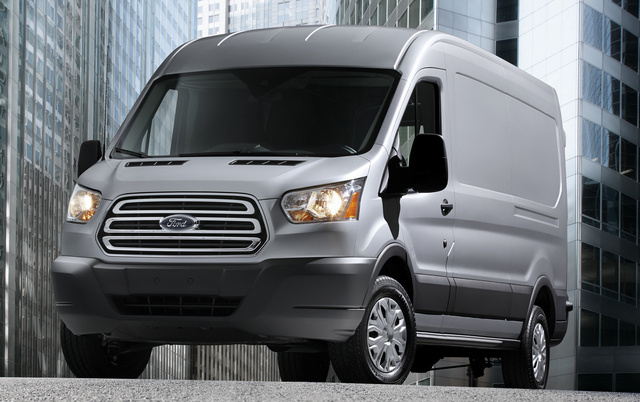 2015 Ford Transit Cargo, Front-quarter view, exterior, manufacturer