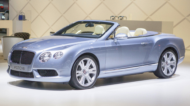 2015 Bentley Continental GT Convertible, Front-quarter view, exterior, manufacturer, gallery_worthy