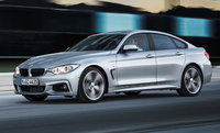 Front-quarter view of the 2015 BMW 4 Series Gran Coupe