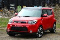 Front 3/4 of the 2014 Kia Soul, exterior