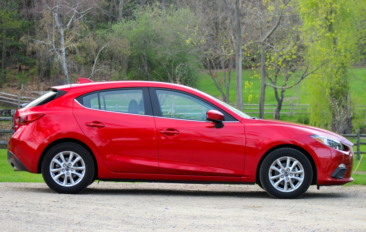 Side of the 2014 Mazda3