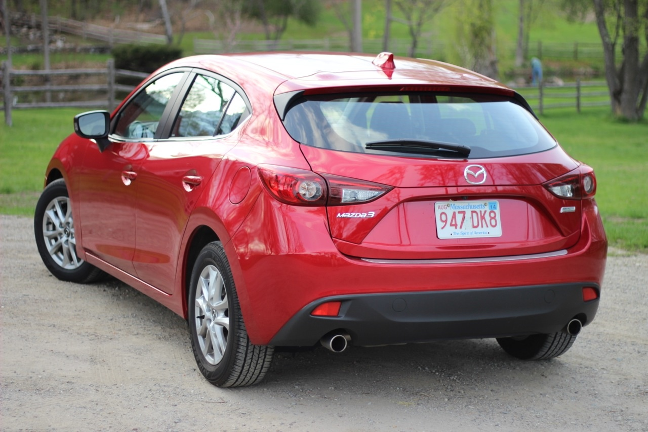 Rear 3/4 of the 2014 Mazda3