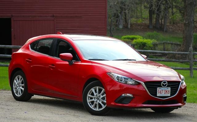2014 Mazda MAZDA3, Front 3/4 of the 2014 Mazda3, exterior
