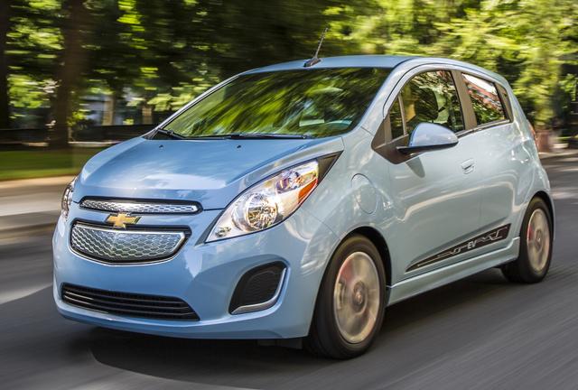 2015 Chevrolet Spark EV, Front-quarter view. Copyright General Motors, exterior, manufacturer