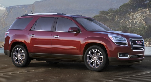 2015 GMC Acadia, Front-quarter view. Copyright General Motors, exterior, manufacturer