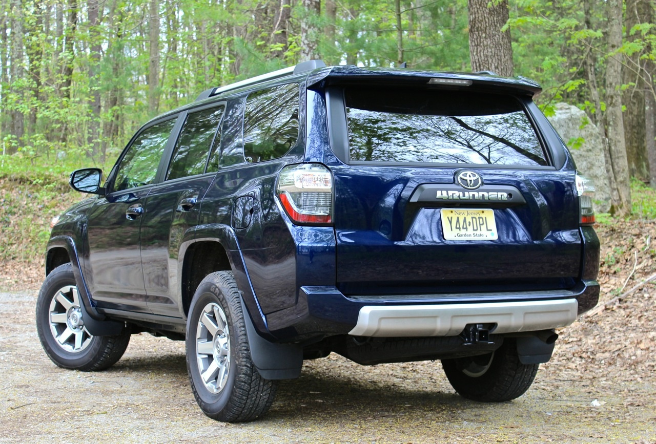 Rear 3/4 of the 2014 Toyota 4Runner