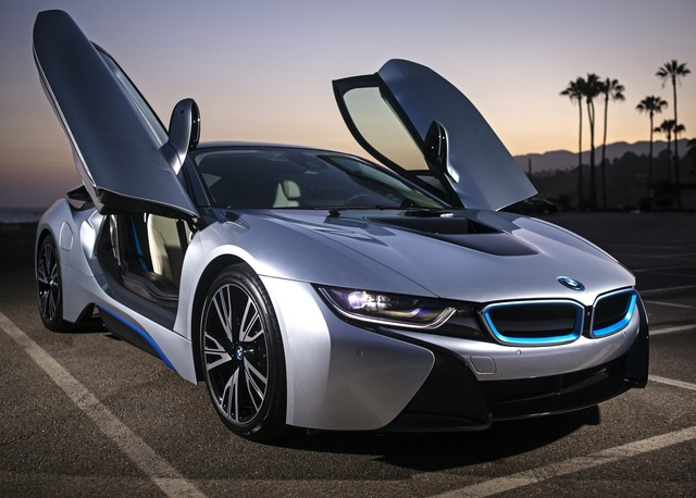 2015 BMW i8, Front-quarter view, exterior, manufacturer, gallery_worthy