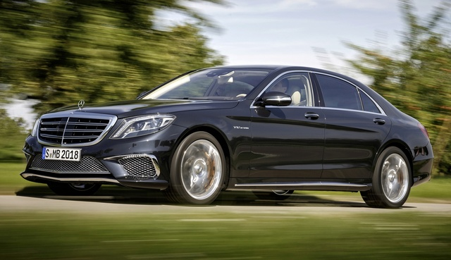 2015 Mercedes-Benz S-Class, Front-quarter view, exterior, manufacturer
