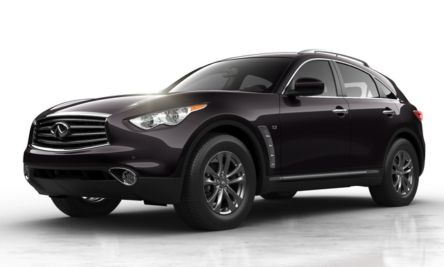2015 INFINITI QX70, Front-quarter view, exterior, manufacturer, gallery_worthy