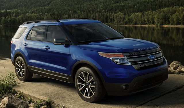 2015 Ford Explorer, Front-quarter view, exterior, manufacturer, gallery_worthy