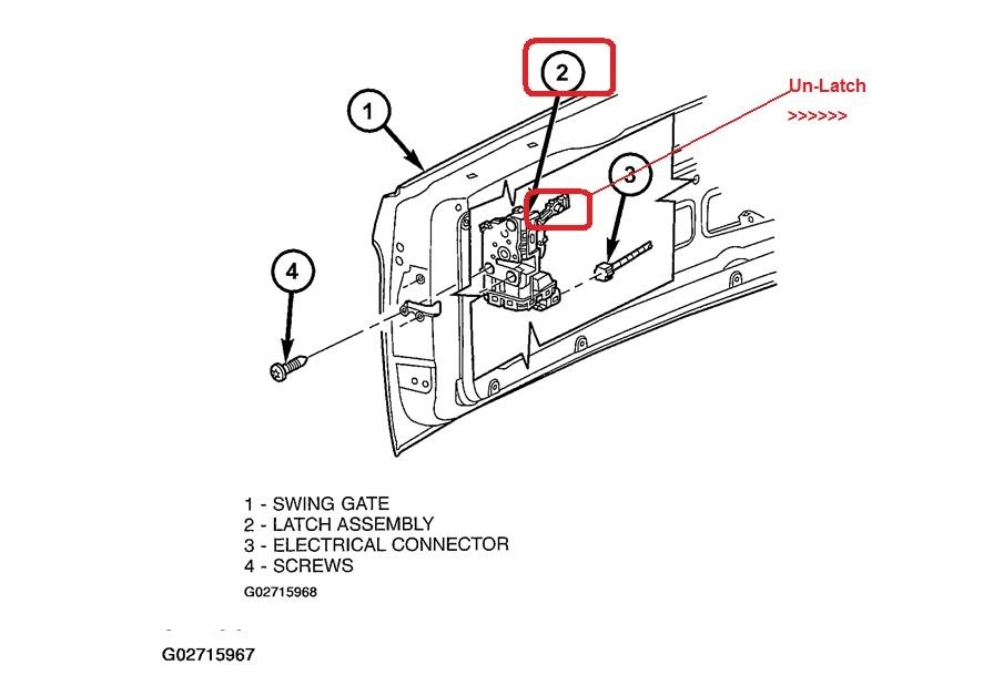 jeep liberty questions - how do i open my rear hatch