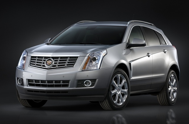 2015 Cadillac SRX, Front-quarter view. Copyright General Motors, exterior, manufacturer