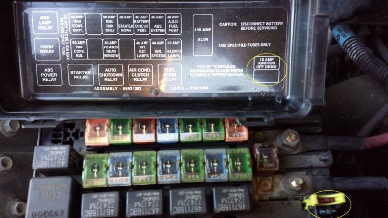 dodge ram van questions unmarked fuse blows van quits cargurus rh cargurus com  1995 dodge ram van fuse panel