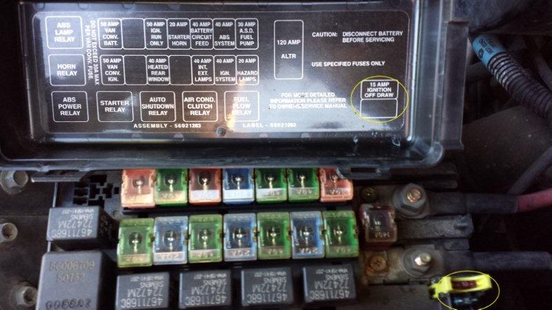 dodge ram fuse box corrosion    dodge       ram    van questions unmarked    fuse    blows  van quits     dodge       ram    van questions unmarked    fuse    blows  van quits