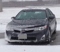 2012 Toyota Camry XLE, Winter of 2013-14 was miserable, but the Camry plowed right through, exterior