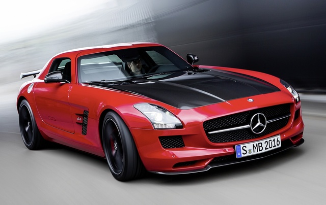 2015 Mercedes-Benz SLS-Class, Front-quarter view, exterior, manufacturer, gallery_worthy