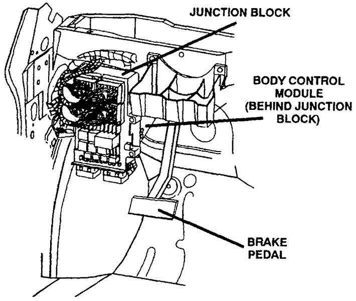 silverado body control module location