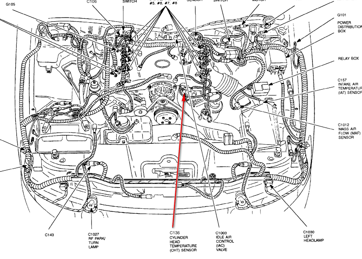 1997 lincoln continental engine diagram