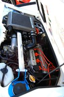 1988 Toyota MR2 Supercharged Coupe, ... big pulley 4AGZE, pushing 14 psi, about 225 HP --, engine