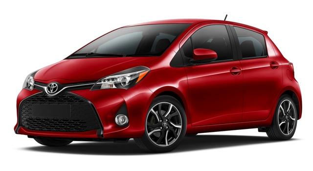 2015 Toyota Yaris, Front-quarter view, exterior, manufacturer