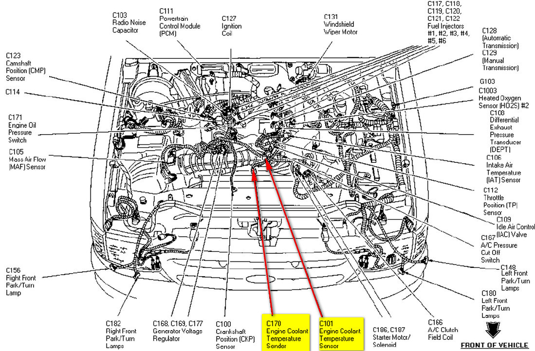 Ford 3 0l V6 Diagram Wiring Schemes 1994 Ranger Crank Sensor 0 Engine Sensors Great Design Of U2022 Rh Zenapparel Co 30l Performance Water Pump Location