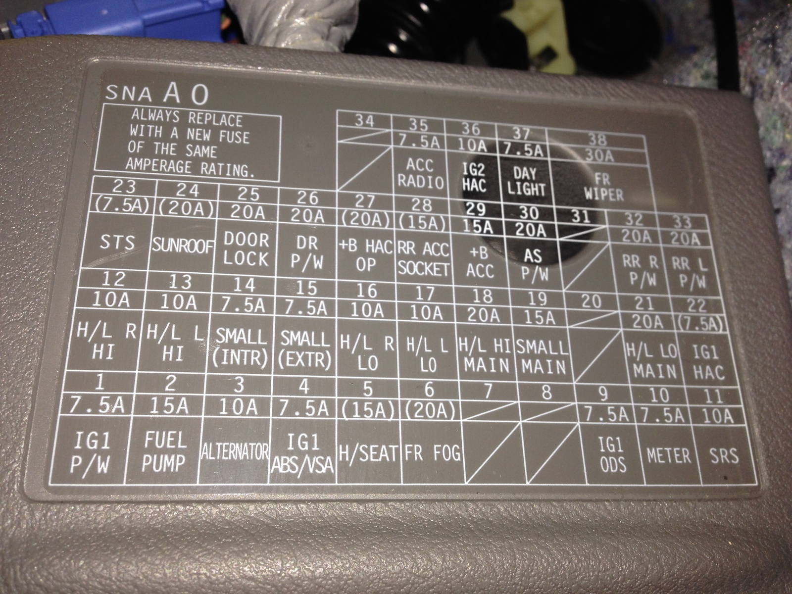 2003 Nissan Fuse Box Labels - List of Wiring Diagrams on
